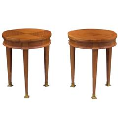 Pair of Jacques Quinet Side Tables