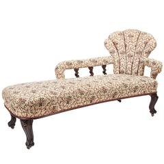 Rare Victorian Rosewood Chaise Longue