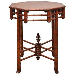 19th Century Faux Bamboo Table