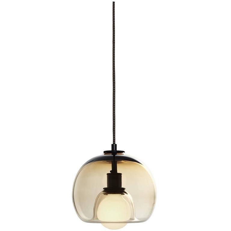Eres Bronze, Handblown Glass Orb Pendant Light