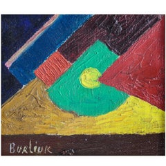 Futurist Composition Oil Painting by David Burliuk