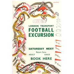 Original Vintage Sport Advertising Poster 'London Transport Football Excursion'