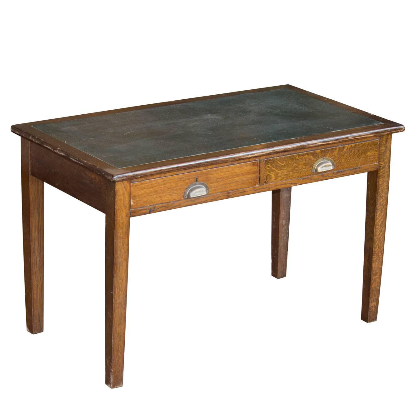 English arts and crafts oak writing desk for sale at 1stdibs for Crafting desks for sale