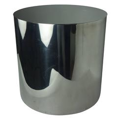 Aluminum Circular Side Table with Stainless Steel Top