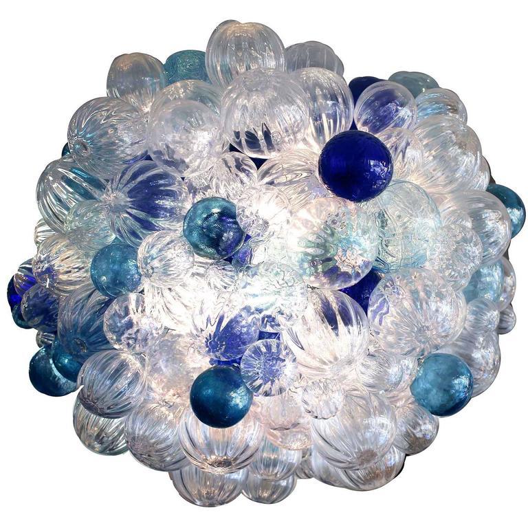 Custom Large Bubble Glass Chandelier