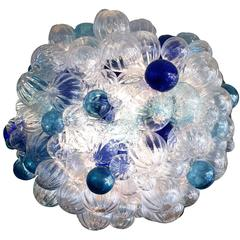 Custom Large Bubble Glass Chandelier