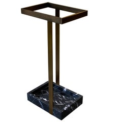 Bronze and Marble Umbrella Stand