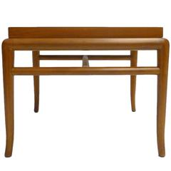 Sleek T.H. Robsjohn Gibbings for Widdicomb Walnut Side/Occasional Table