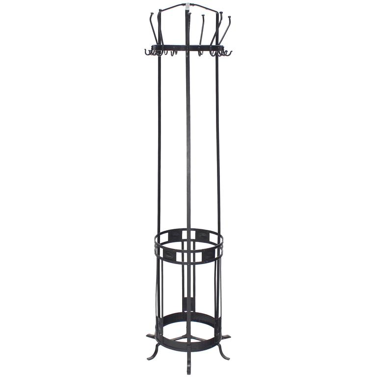 Wrought Iron Coat Rack Umbrella Stand For