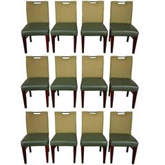 Set of 12 Contemporary Side Chairs