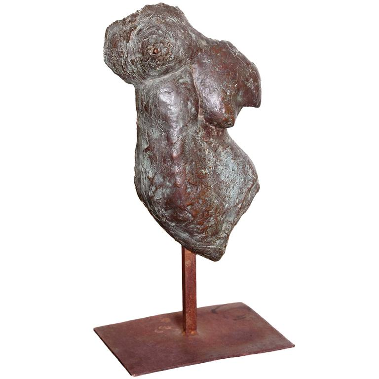 Female Torso Sculpture Cast Metal Female Tors...
