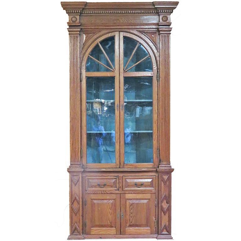 Large Georgian Style Pine Corner Cabinet