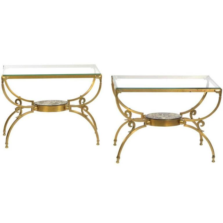 Pair of Bronze Tables by Arturo Pani