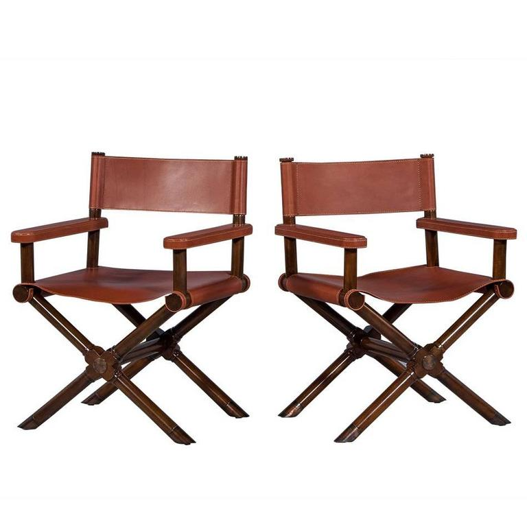 Pair Of Modern Directors Chairs Desert For Sale