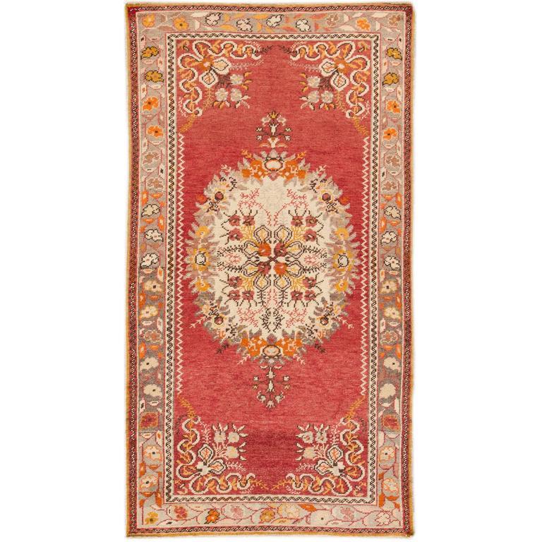 Early 20th C. Antique Rust, Beige Persian Khotan Rug