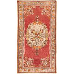 Early 20th C. Antique Rust, Beige Persian Khotan Rug