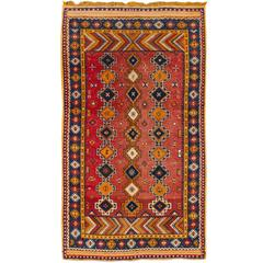 Early 20th Century Antique Red, Orange Moroccan Carpet