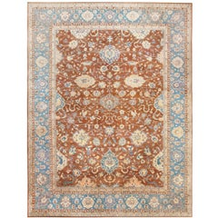 Breathtaking Oversized Antique Indian Agra Rug. Size: 20 ft 8 in x 26 ft 8 in