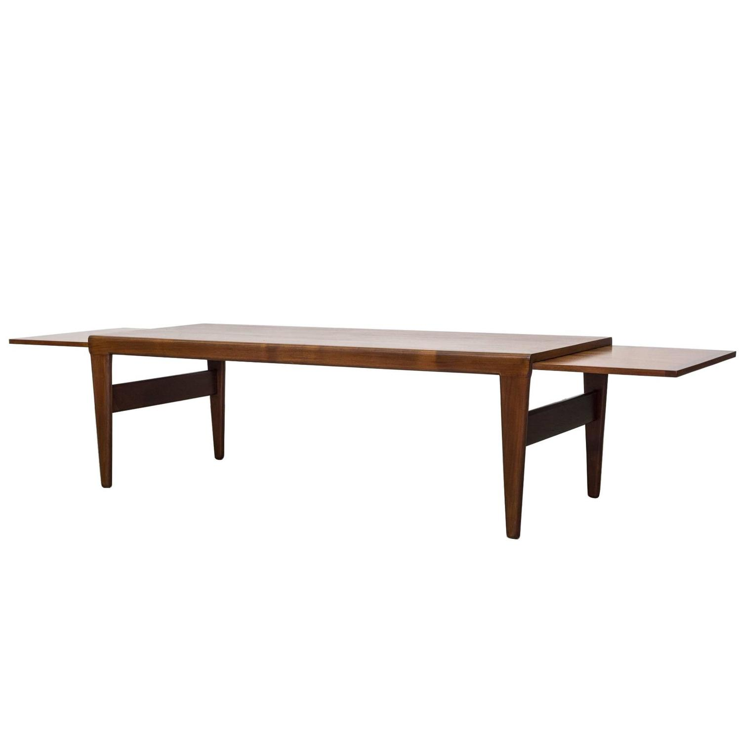 Mid century coffee table with double extensions for sale for Coffee table extension
