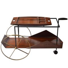 1950 Tea Trolley Brazilian Jacaranda by Jorge Zalszupin
