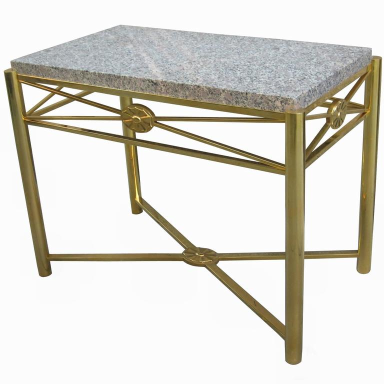 Edgar Brandt Art Deco Console Table For Sale