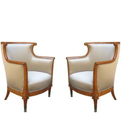 Fine Pair of Neoclassical Bergeres