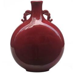 Ceramic Moon Flask Vase by Paul Milet