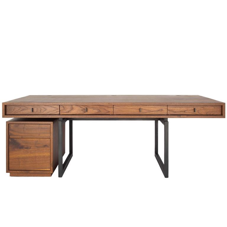 Berkeley Desk In Customizable Wood, Metal And Size For Sale