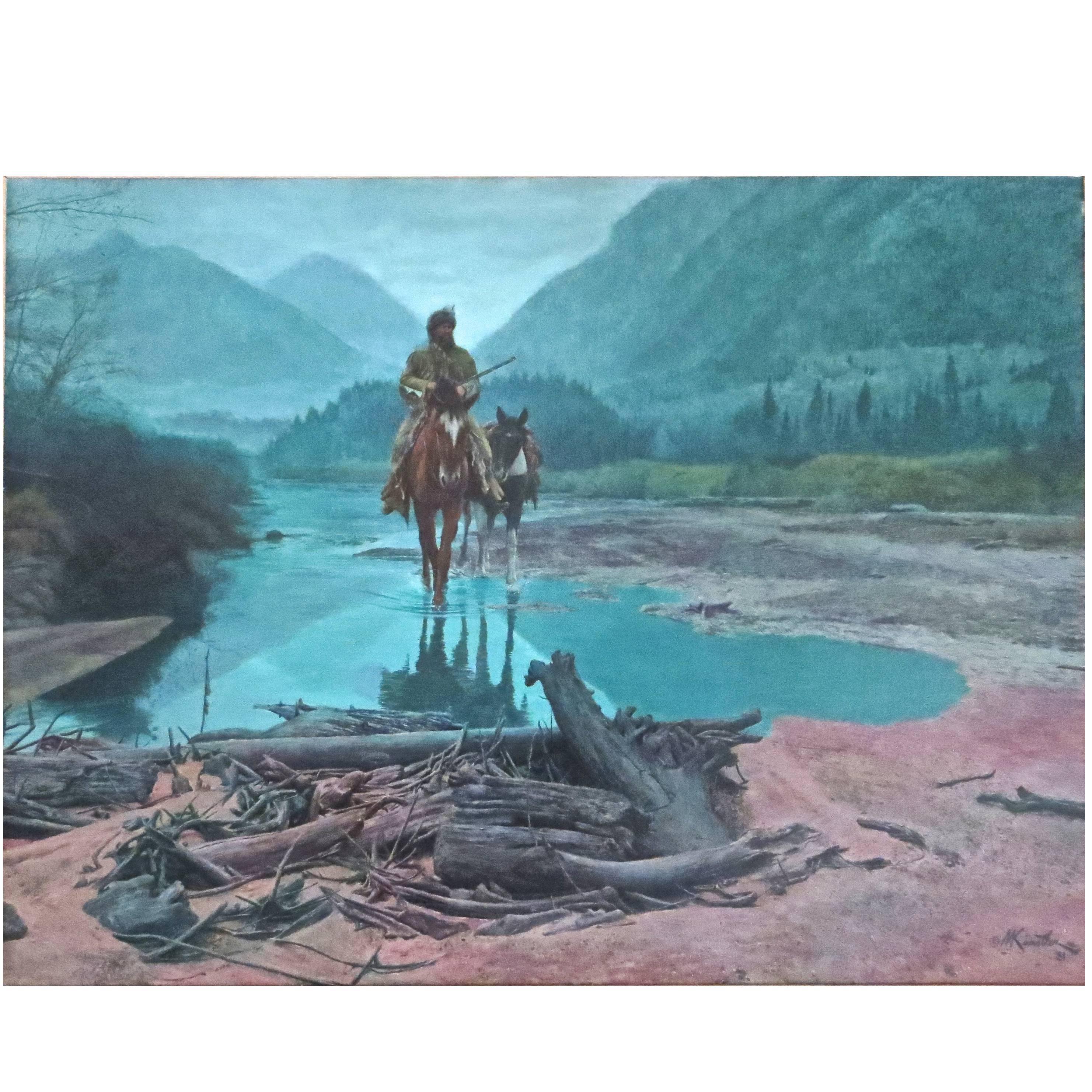 """Mort Kunstler (b. 1927) """"Morning Mist""""  (1981)  Oil on Canvas"""
