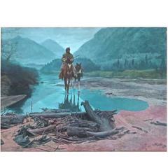 "Mort Kunstler ""Morning Mist,"" 1981 Oil on Canvas"