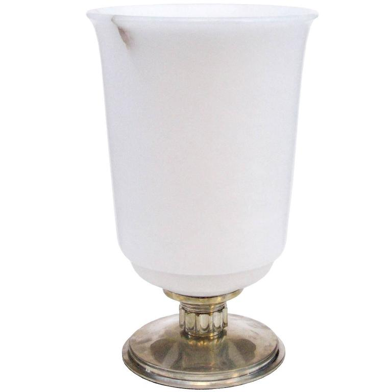 Urn Shaped Alabaster Table Lamp 1