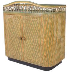 Art Deco Rattan Bar or Server