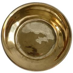 Cast Brass English Bowl, circa 1850