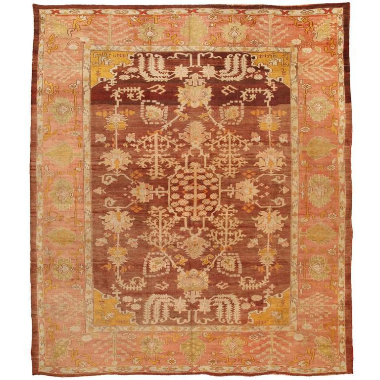 Exceptional Antique Mid-19th Century Turkish Oushak Carpet