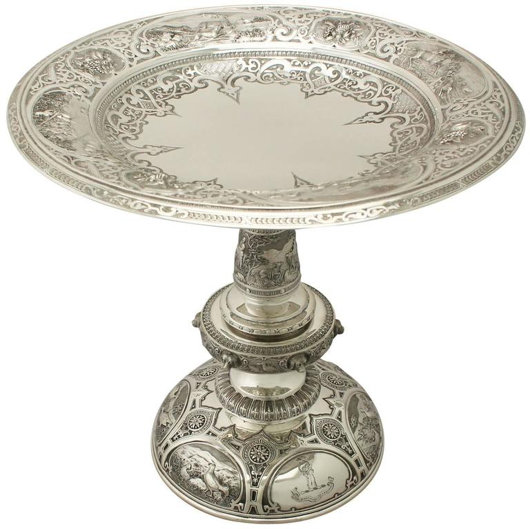 Antique Victorian Scottish Sterling Silver Tazza For Sale