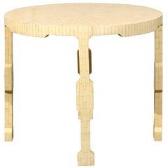 Mid-Century Round Bone Table, circa 1970