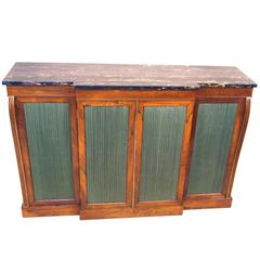Antique Regency Rosewood Breakfront Side Cabinet
