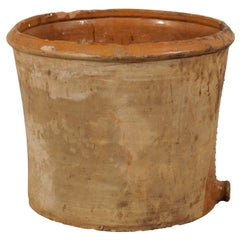 Spanish Antique Clay Pot with Spout at the Bottom from the 19th Century
