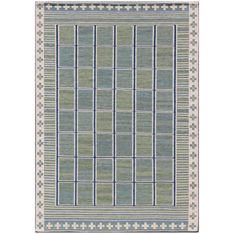Large Modern Scandinavian Swedish Rug