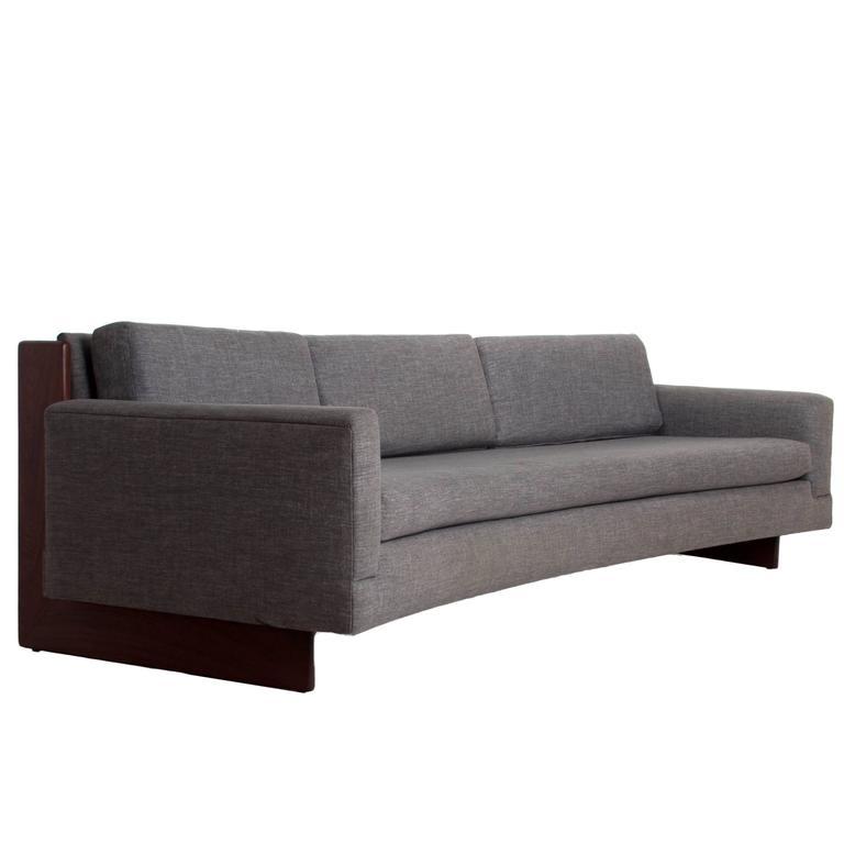 Mid-Century Curved Sofa 1