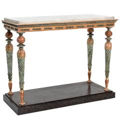 Late Gustavian Polychrome Console Table
