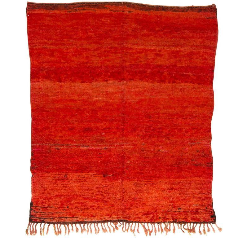 Vintage Aut Sgougou Moroccan Rug