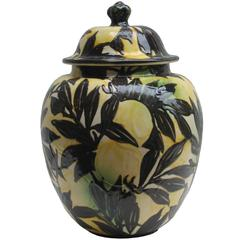 """Lemons"" Art Deco Lidded Vase by Max Laeuger"