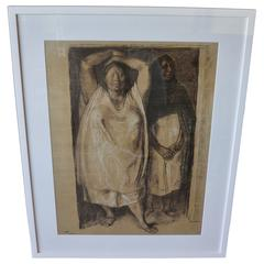 Charcoal Drawing Dated 1972