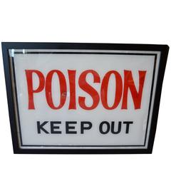 Authentic Vintage Poison Sign