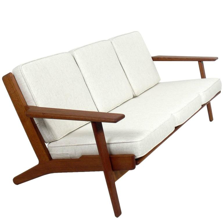 Danish Modern Oak Sofa by Hans Wegner