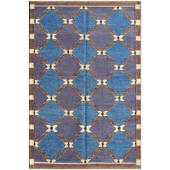 Modern Scandinavian Flat Weave rug with Mid Century Modern Swedish Design