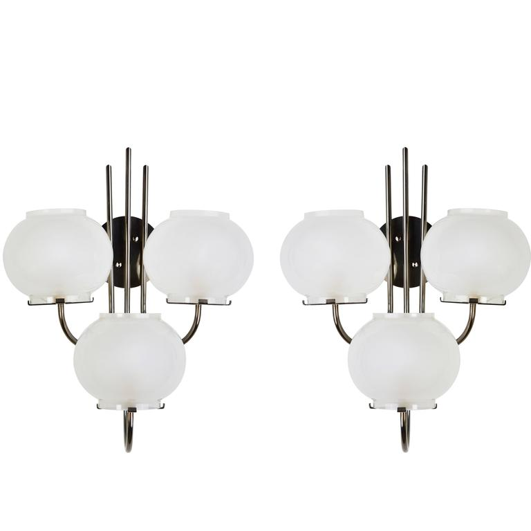 Pair of Sconces by Tito Agnoli for Oluce