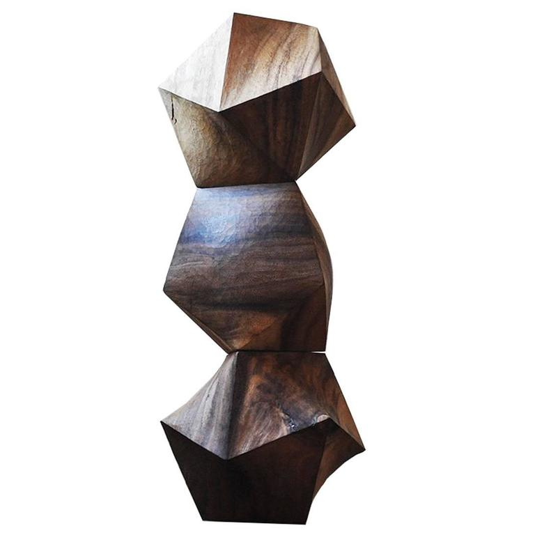 Icosadron Wood Sculptures by Aleph Geddis