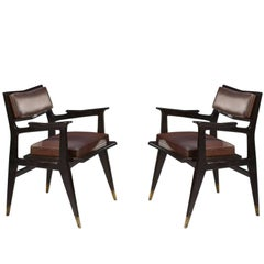 Raphael Raffel Pair of Stamped Chairs, 1955-1965